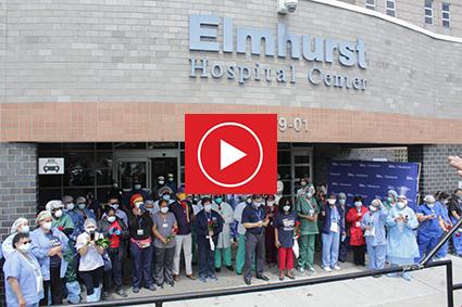Las Flores de Colombia rindieron homenaje al cuerpo médico del Hospital de Elmhurst en Nueva York