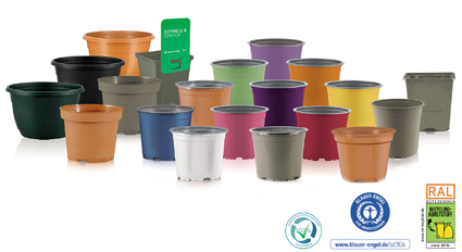 Circular360 becomes colourful:  Plant pots from Pöppelmann TEKU® close the material cycle